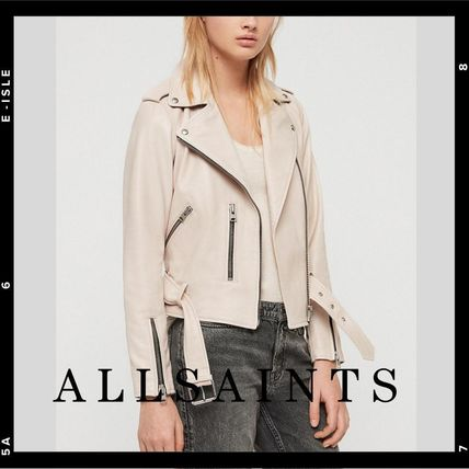 Plain Leather Medium Biker Jackets