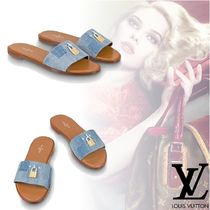 Louis Vuitton Open Toe Platform Plain Elegant Style