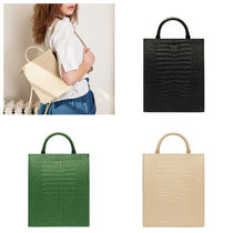 OAD NEW YORK 3WAY Plain Other Animal Patterns Leather Backpacks