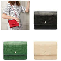 OAD NEW YORK Plain Other Animal Patterns Leather Crossbody Shoulder Bags