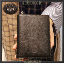 CELINE Unisex Calfskin Plain Wallets & Small Goods