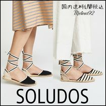SOLUDOS Stripes Casual Style Slip-On Shoes