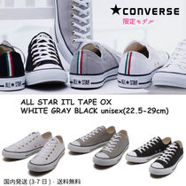CONVERSE ALL STAR Stripes Unisex Street Style Plain Sneakers