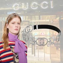 GUCCI Studded Street Style With Jewels Elegant Style Headbands