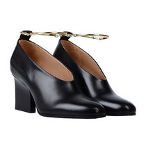 Jil Sander Plain Leather High Heel Pumps & Mules