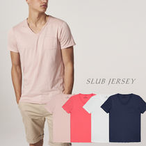 Ron Herman Street Style V-Neck Cotton Short Sleeves V-Neck T-Shirts