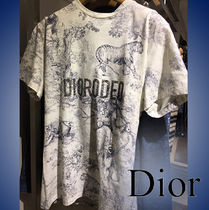 Christian Dior Crew Neck Cotton Short Sleeves T-Shirts