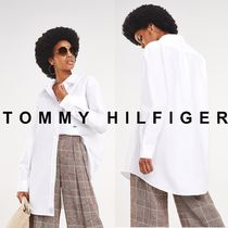 Tommy Hilfiger Unisex Street Style Long Sleeves Plain Cotton Long