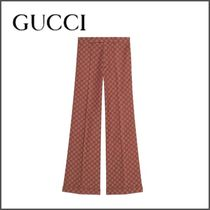 GUCCI Printed Pants Monogram Blended Fabrics Street Style Cotton