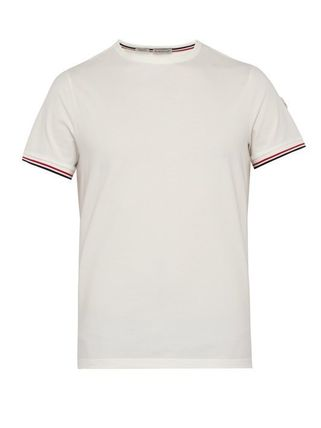MONCLER Crew Neck Crew Neck Plain Short Sleeves Logos on the Sleeves 6