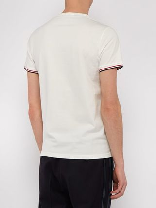 MONCLER Crew Neck Crew Neck Plain Short Sleeves Logos on the Sleeves 9