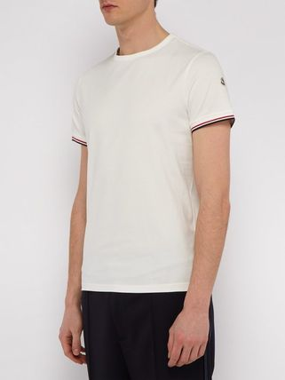 MONCLER Crew Neck Crew Neck Plain Short Sleeves Logos on the Sleeves 7