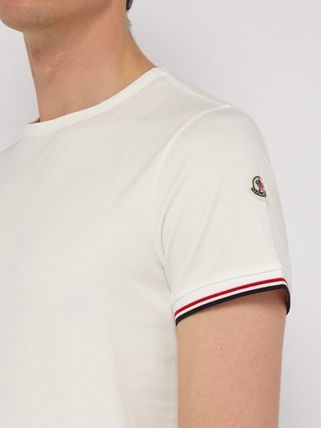 MONCLER Crew Neck Crew Neck Plain Short Sleeves Logos on the Sleeves 8