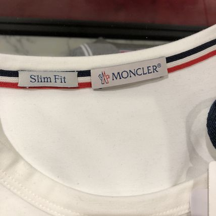 MONCLER Crew Neck Crew Neck Plain Short Sleeves Logos on the Sleeves 3