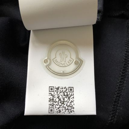 MONCLER Crew Neck Crew Neck Plain Short Sleeves Logos on the Sleeves 5