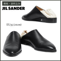 Jil Sander Moccasin Casual Style Plain Leather Slip-On Shoes