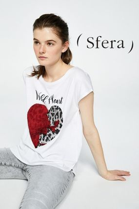 Casual Style Cotton Medium Short Sleeves Shirts & Blouses