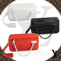 Louis Vuitton Crocodile 2WAY Chain Other Animal Patterns Clutches