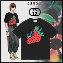 GUCCI Crew Neck Unisex Street Style Cotton Short Sleeves Oversized