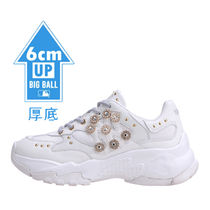 MLB Korea Casual Style Unisex Street Style Dad Sneakers