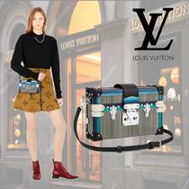 Louis Vuitton PETITE MALLE Casual Style Leather Shoulder Bags