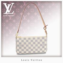 Louis Vuitton DAMIER AZUR Casual Style Unisex 2WAY Chain Shoulder Bags