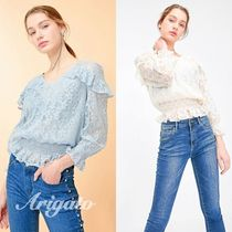 VERO MODA Star Casual Style Lace Shirts & Blouses