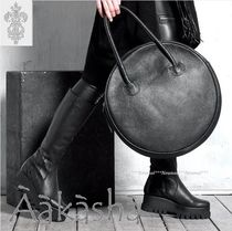 Aakasha Plain Leather Handmade Handbags