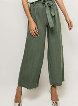 Casual Style Plain Long Oversized Wide Leg Pants