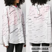 BALENCIAGA Casual Style Silk Long Sleeves Medium Shirts & Blouses
