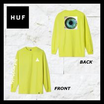 HUF Crew Neck Unisex Street Style Long Sleeves Cotton Oversized