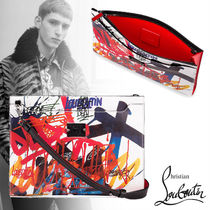 Christian Louboutin Unisex Street Style 2WAY Leather Clutches