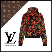 Louis Vuitton Pullovers Flower Patterns Street Style Long Sleeves Cotton