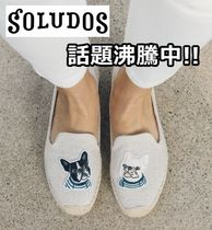 SOLUDOS Casual Style Plain Other Animal Patterns Flats