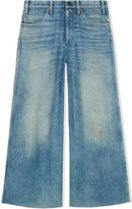 GUCCI Denim Plain Long Wide & Flared Jeans