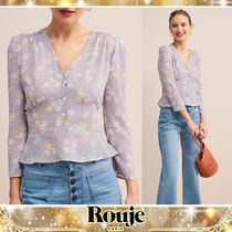 Rouje Short Flower Patterns Dots Cropped Elegant Style Cropped