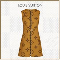 Louis Vuitton MONOGRAM Crew Neck Short Monogram A-line Blended Fabrics Sleeveless