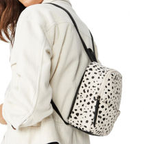 TYPO Dots Street Style A4 Bi-color PVC Clothing Backpacks