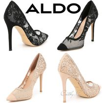 ALDO Blended Fabrics Plain Pin Heels Party Style With Jewels