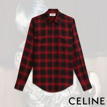CELINE Other Check Patterns Long Sleeves Shirts