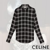 CELINE Other Plaid Patterns Long Sleeves Shirts
