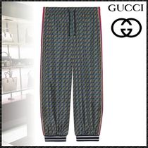 GUCCI Monogram Blended Fabrics Street Style Cotton Oversized