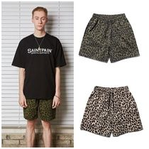 SAINTPAIN Leopard Patterns Unisex Street Style Cotton Shorts
