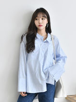 Stripes Casual Style Long Sleeves Cotton Long Oversized