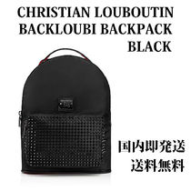 Christian Louboutin Unisex Studded Street Style Plain Backpacks