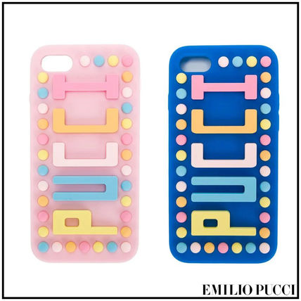 Dots Unisex Street Style Silicon Smart Phone Cases