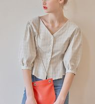 Margarin Fingers Other Check Patterns Cotton Shirts & Blouses