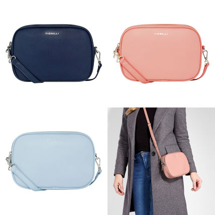 Casual Style Faux Fur Plain Shoulder Bags