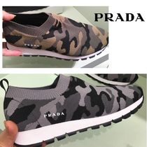 PRADA Camouflage Casual Style Low-Top Sneakers