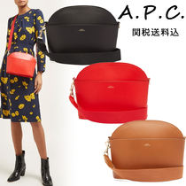 A.P.C. Casual Style Street Style Plain Leather Shoulder Bags